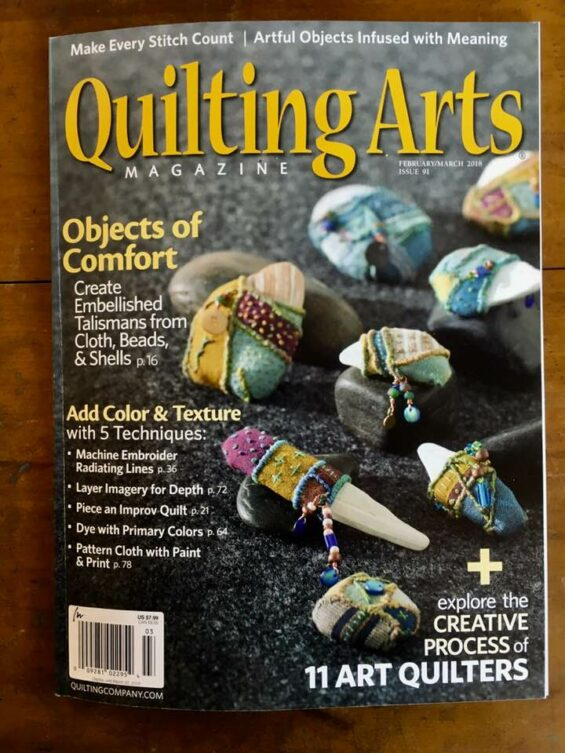 Daphne Taylor - Quilting Arts Magazine (March 2018)